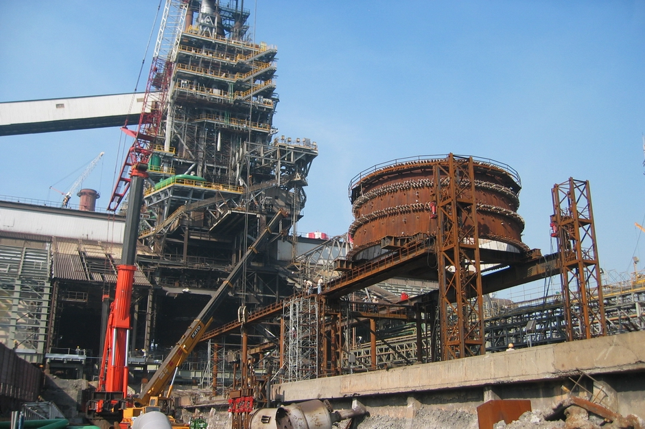 Blast Furnace Construction : China steel blast furnace replacement taiwan using